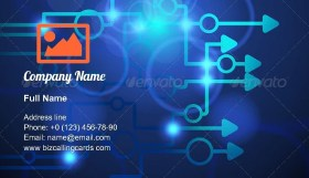 Technological abstraction Arrows Business Card Template