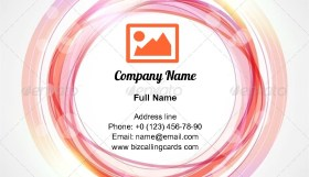 Abstract circle frame Business Card Template