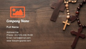 Crosses Over Wooden Business Card Template