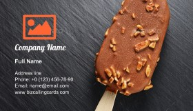 Chocolate popsicle with peanuts Business Card Template