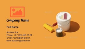Painting and home decoration Business Card Template