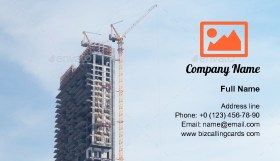 Skyscraper under construction Business Card Template