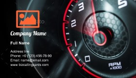 Car Engine Revolutions Business Card Template