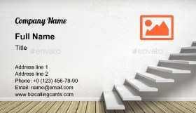 Room with stairs Business Card Template