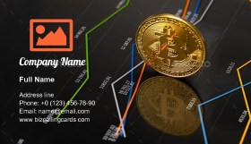 Cryptocurrency prices Business Card Template