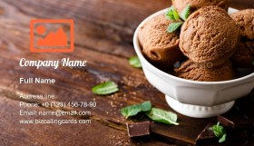 Chocolate ice cream Business Card Template