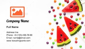 Waretmelon lollipops Business Card Template
