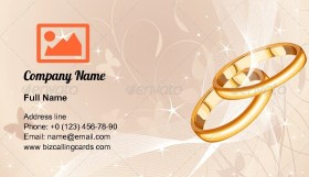 Elegant Wedding Rings Business Card Template