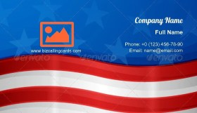 USA american flag Business Card Template