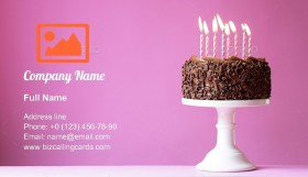 Birthday cake Business Card Template