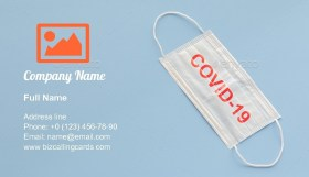 Protect against covid-19 Business Card Template
