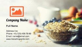 Ingredients for healthy breakfast Business Card Template