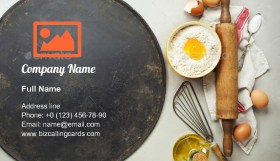 Pizza baking sheet Business Card Template