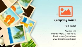 Photos From Holidays Business Card Template