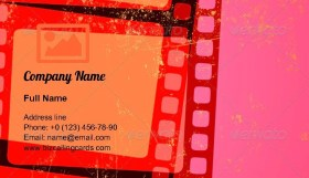 Grunge Abstract cinema Business Card Template