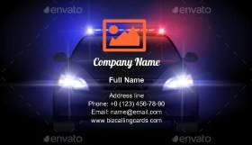 Sheriff Police Car Business Card Template