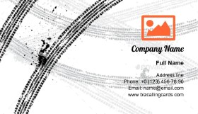 Ink Blots Tire Track Business Card Template
