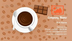 Coffee with Chocolate Business Card Template