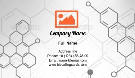 Organical Chemical Formulas Business Card Template