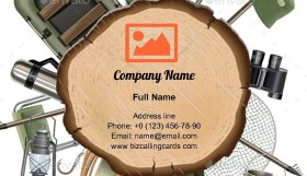 Fishing Tackle items  Business Card Template