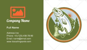Spotted Speckled Trout Fish Business Card Template