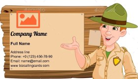 Forest or park ranger Business Card Template