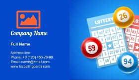Lottery Number Balls Business Card Template