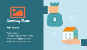 Buying and selling house Business Card Template