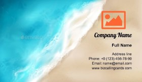 Wave with Foam Splashing Business Card Template