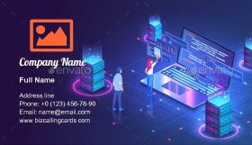 Web Hosting or Programming Business Card Template