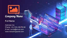 Online Devices Upload Business Card Template