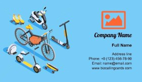 Isometric personal transport Business Card Template
