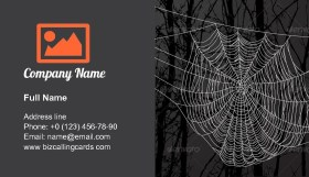 Spider Web And Tree Business Card Template
