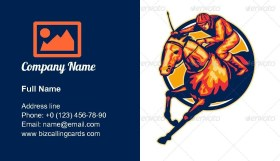 Horse and Jockey Racing Business Card Template