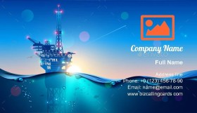 Offshore Oil or Gas Rig Business Card Template
