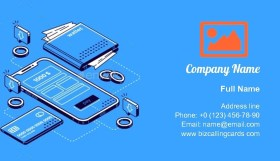Smart Wallet Isometric Business Card Template