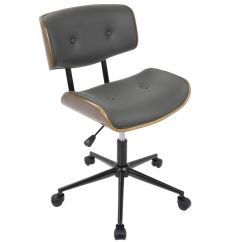 Modern Grey Leather Office Chair Retro Kitchen Chairs Lombardi Oc Jy Lmb Wl Gy Bizchair Com Images Our Mid Century Faux