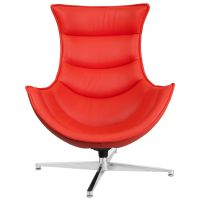 Red Leather Cocoon Chair ZB-34-GG | Bizchair.com