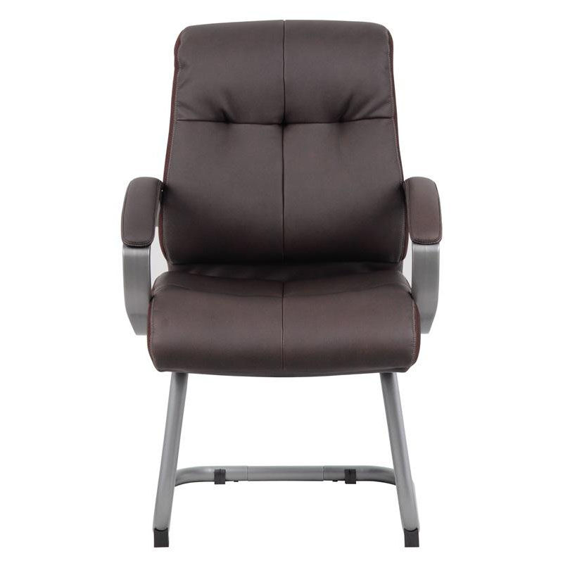 brown office guest chairs how to make a hammock chair stand executive padded arm b8779p bn bizchair com our double plush with arms is on sale now