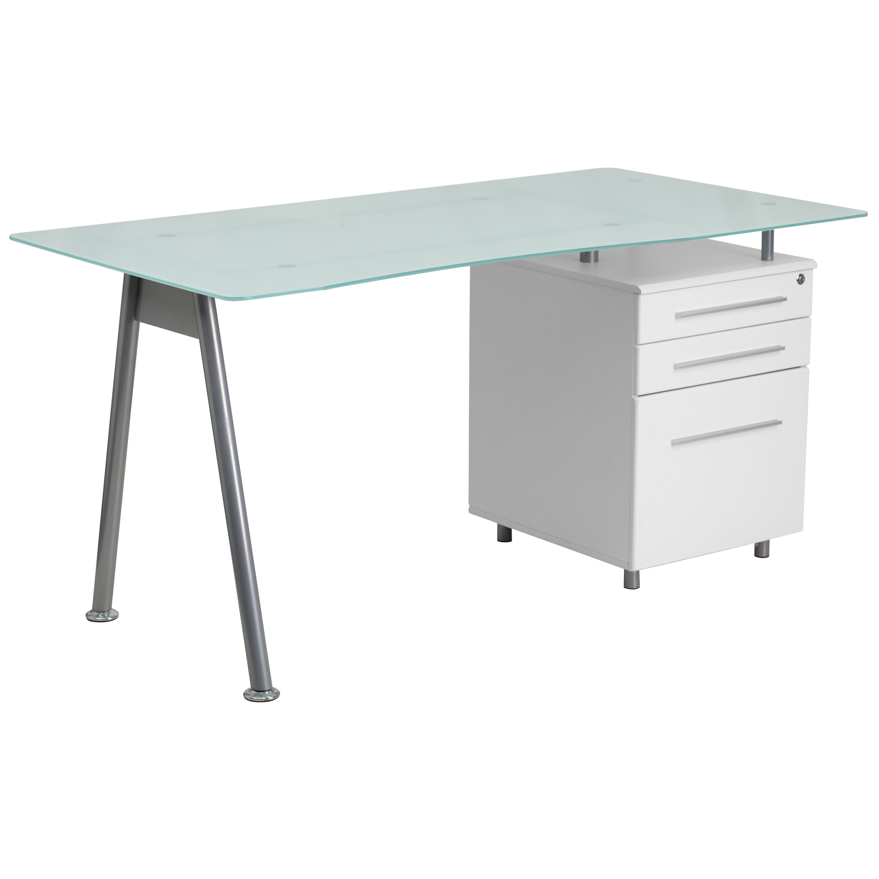 Frosted Glass Top Drawer Desk Nan-wk-021-gg