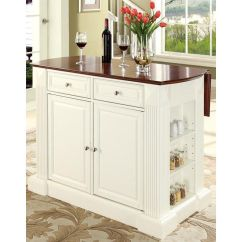 Kitchen Island With Drop Leaf Clearance Painting Cabinets Home Depot Kf30007wh Bizchair