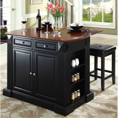Kitchen Island With Drop Leaf Preschool Set Kf300075bk Bizchair