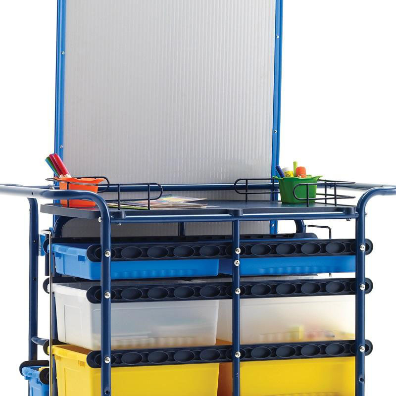 Teach '' Cart With Magnetic Dry Erase Board And 2