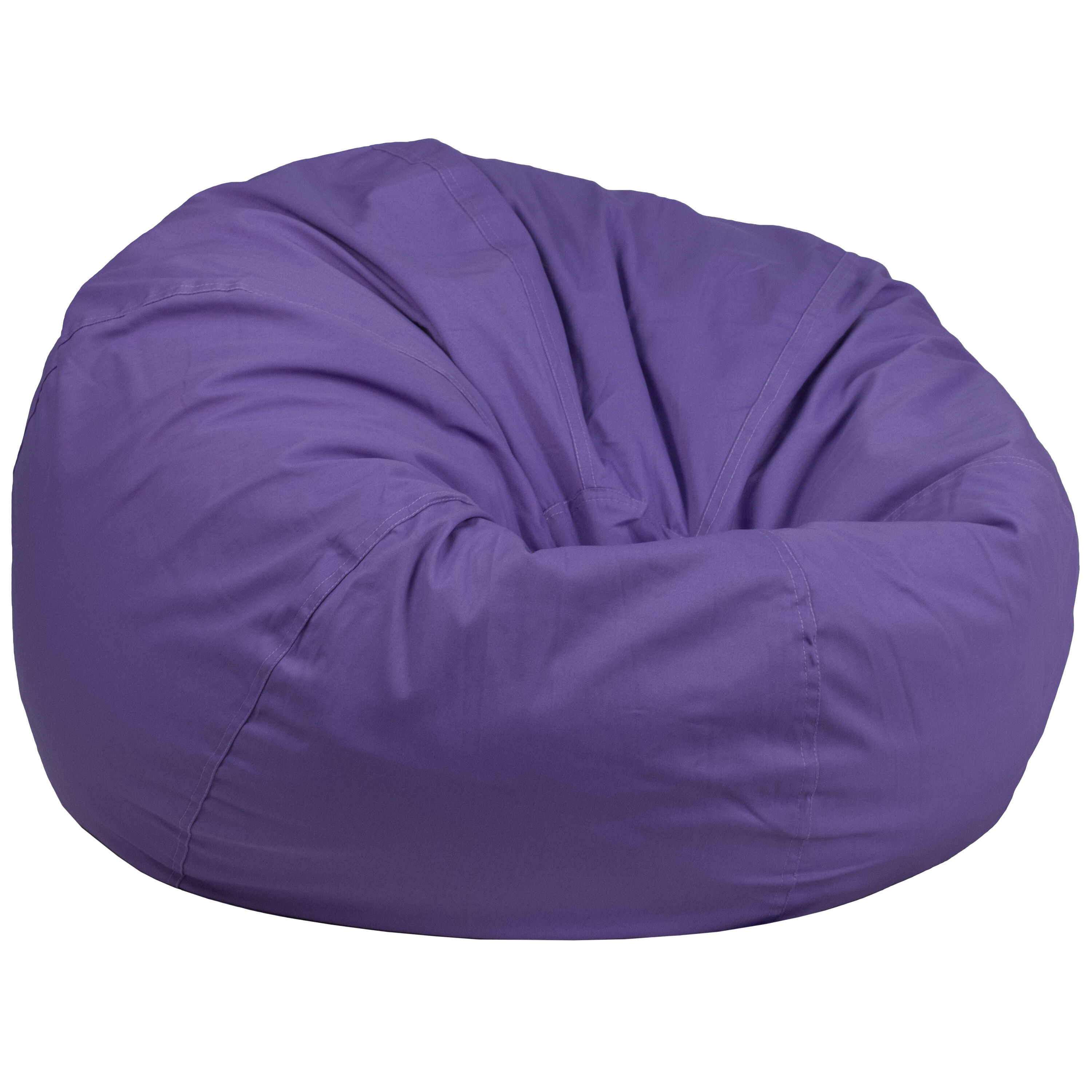 Oversized Solid Purple Bean Bag Chair