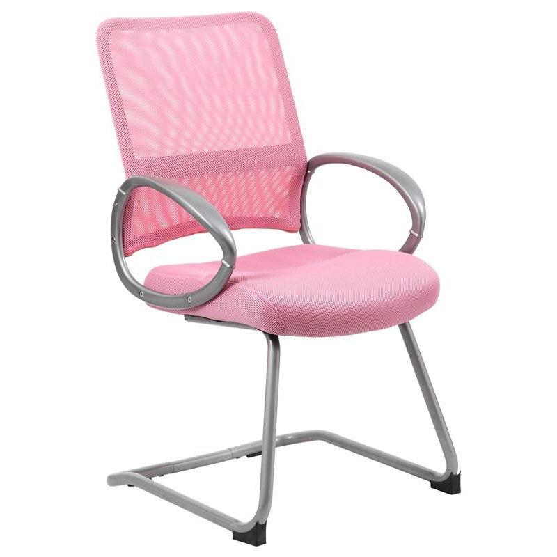 biz chair com antique metal lawn chairs guest loop arm pink b6419 pk bizchair