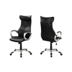 Black Leather Office Chair High Back With Leg Rest India Executive I 7290 Bizchair Com