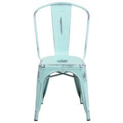 Blue Metal Chairs Hanging Chair London Drugs Distressed Et 3534 Db Gg Bizchair