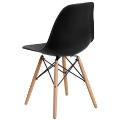 Black Plastic Chair With Wooden Legs Cover Rentals In Nj Wood Fh 130 Dpp Bk Gg Bizchair Com Our Elon Series Is On Sale Now