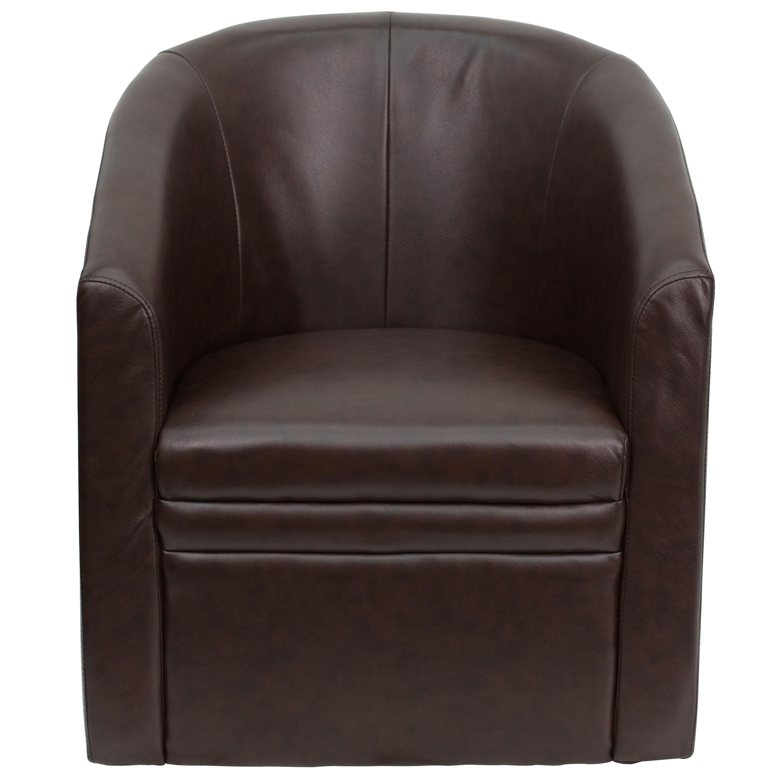 brown office guest chairs metal stool chair cushion flash furniture go s 03 bn full gg bizchair