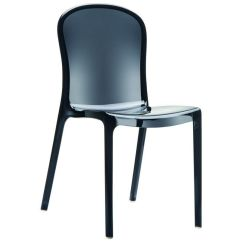 See Through Dining Chairs Salon In Delhi Black Stacking Chair Isp033 Tbla Bizchair